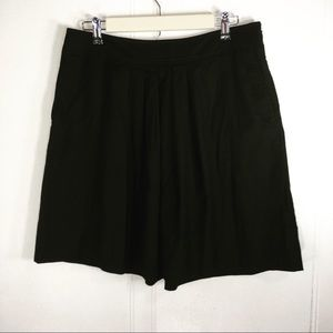 Loft Ann Taylor Black Semi Pleated Mini Skirt